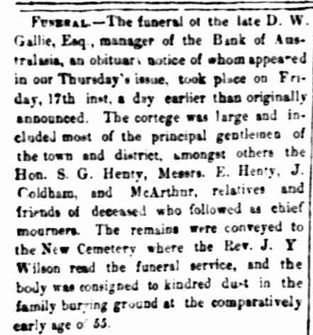 """Family Notices."" Portland Guardian and Normanby General Advertiser (Vic. : 1842 - 1876) 30 Jan 1868: 6 Edition: EVENINGS. Web. 24 Jan 2015 ."