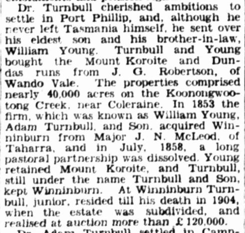 """PASTORAL PIONEERS."" The Australasian (Melbourne, Vic. : 1864 - 1946) 17 Aug 1935: 4. Web. 25 Jan 2015 ."