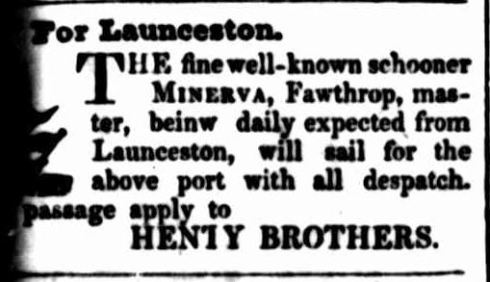 """Advertising."" Portland Guardian and Normanby General Advertiser (Vic. : 1842 - 1876) 24 Sep 1842: 1. Web. 5 Feb 2015 ."