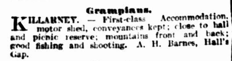 """Classified Advertising."" The Argus (Melbourne, Vic. : 1848 - 1957) 8 Jun 1918: 22. Web. ."