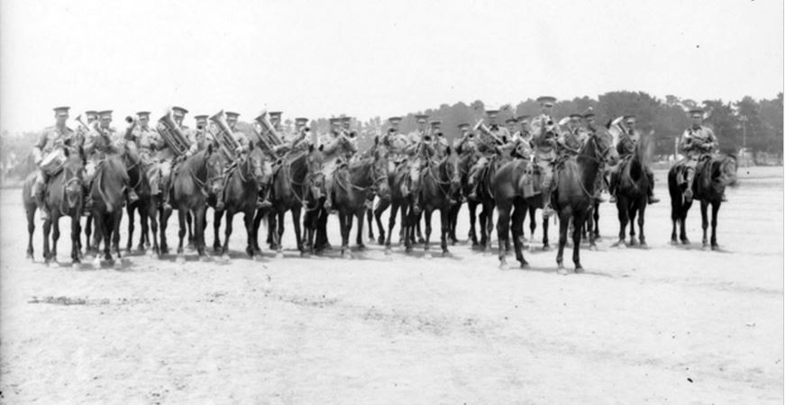 8th LIGHT HORSE REGIMENT c12 February 1915. Image courtesy of the Australian War Memorial. Image no. DAX0136 https://www.awm.gov.au/collection/DAX0136/