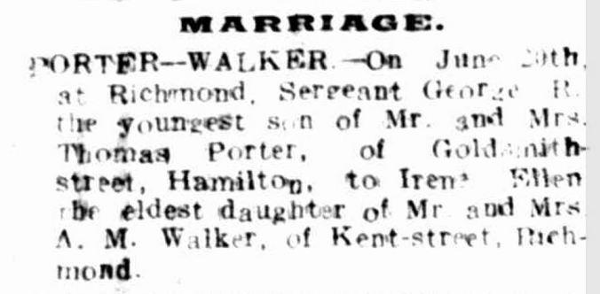 """""""Family Notices."""" Hamilton Spectator (Vic. : 1870 - 1918) 25 Jun 1918: 4. Web. 19 May 2015 ."""