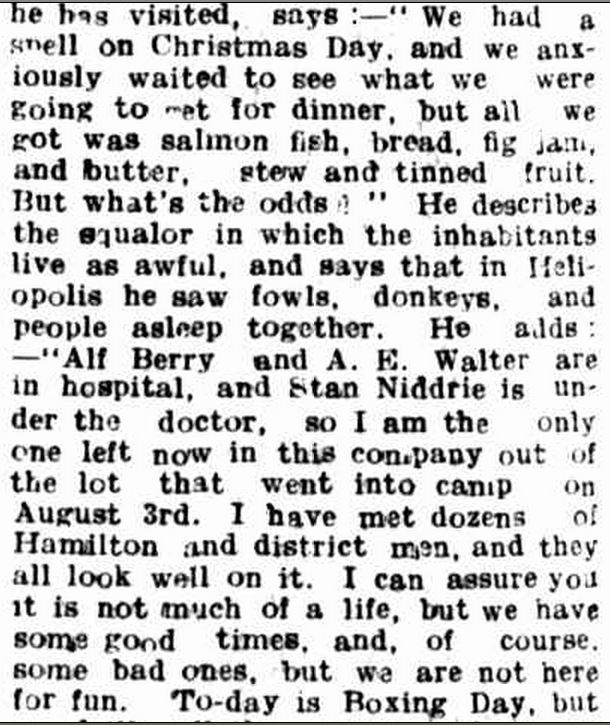 """LETTERS FROM SOLDIERS."" Hamilton Spectator (Vic. : 1870 - 1918) 17 Feb 1916: 4. ."