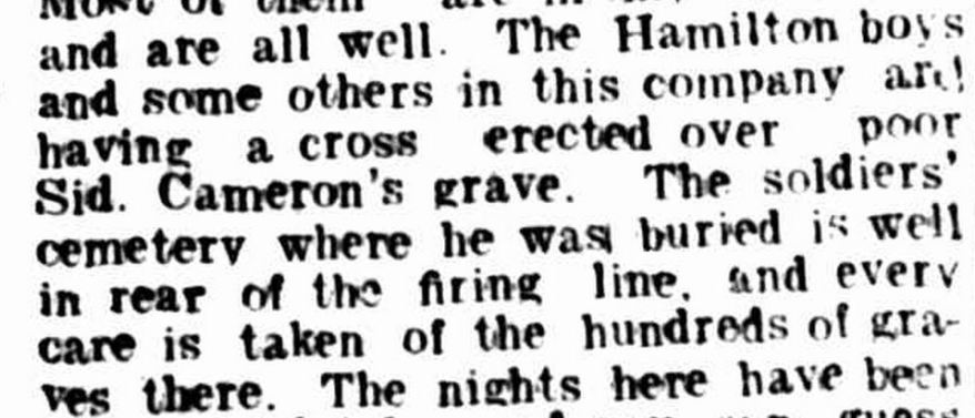 """WITH THE AUSTRALIANS IN FRANCE."" Hamilton Spectator (Vic. : 1870 - 1918) 15 Nov 1916: 4. ."