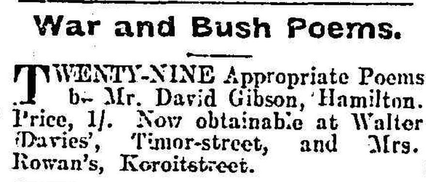 """""""[No heading]."""" Warrnambool Standard (Vic. : 1914 - 1918) 29 Nov 1918: 1 Edition: DAILY.. Web. ."""