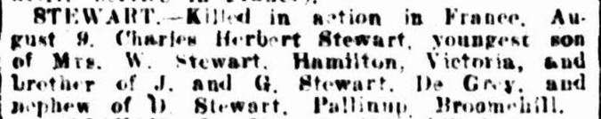 """""""Family Notices."""" Western Mail (Perth, WA : 1885 - 1954) 6 Sep 1918: 19. Web. ."""