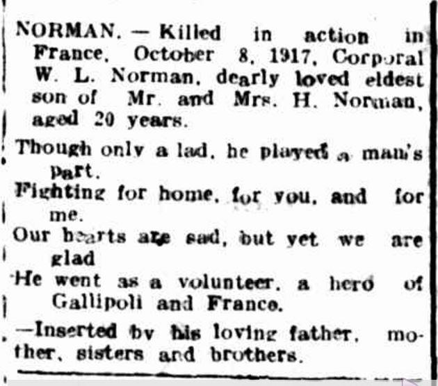 """""""Advertising."""" Hamilton Spectator (Vic. : 1870 - 1873; 1914 - 1918) 6 Dec 1917: ."""