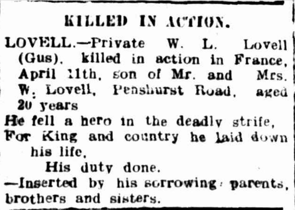 """Advertising"" Hamilton Spectator (Vic. : 1870 - 1873; 1914 - 1918) 5 May 1917:."