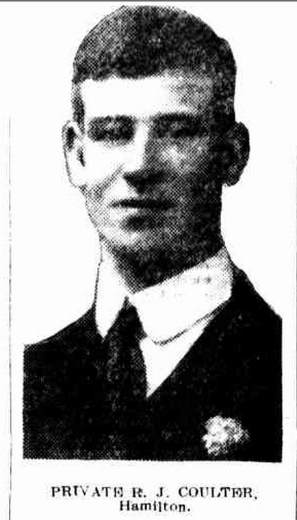 "ROBERT JAMES COULTER. ""DISTRICT HONOUR ROLL."" Hamilton Spectator (Vic. : 1870 - 1873; 1914 - 1918) 10 Oct 1916: 5. Web. 6 Jun 2015 ."
