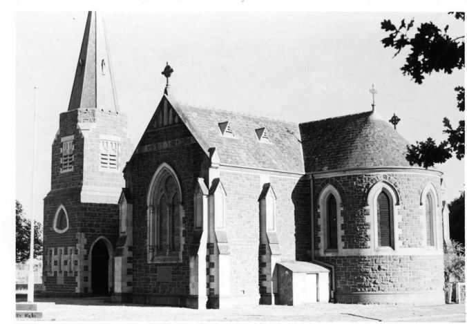 ST. PAULS CHURCH OF ENGLAND, CAMPERDOWN.  Image Courtesy of the  J.T. Collins Collection, La Trobe Picture Collection, State Library of Victoria http://handle.slv.vic.gov.au/10381/216509