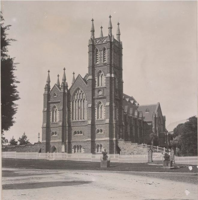 WARRNAMBOOL PRESBYTERIAN CHURCH 1903.  Photographer Joseph Jordan.  Image Courtesy of the State Library of Victoria.  Image no. H96.160/837   http://handle.slv.vic.gov.au/10381/53807
