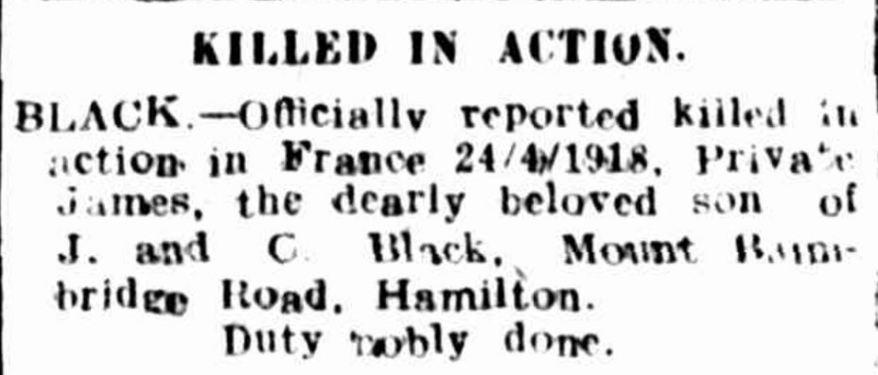 Hamilton Spectator (Vic. : 1870 - 1873; 1914 - 1918) 14 May 1918: 4. .