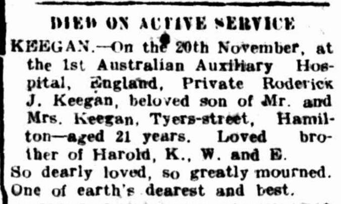 """Advertising"" Hamilton Spectator (Vic. : 1870 - 1918) 29 November 1917: ."