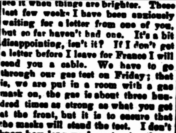 """SOLDIER'S LETTER."" Dunolly and Betbetshire Express and County of Gladstone Advertiser (Vic. : 1915 - 1918) 27 March 1917 ."