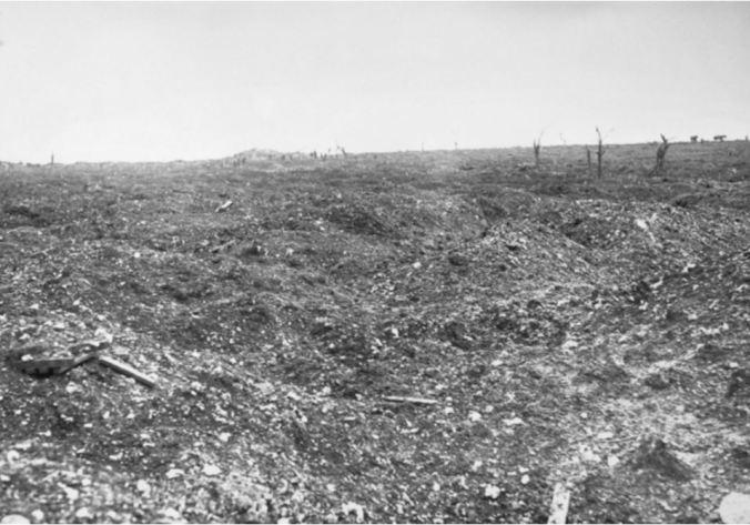 MOUQUET FARM, FRANCE.  Image courtesy of the Australian War Memorial. https://www.awm.gov.au/collection/E00006/