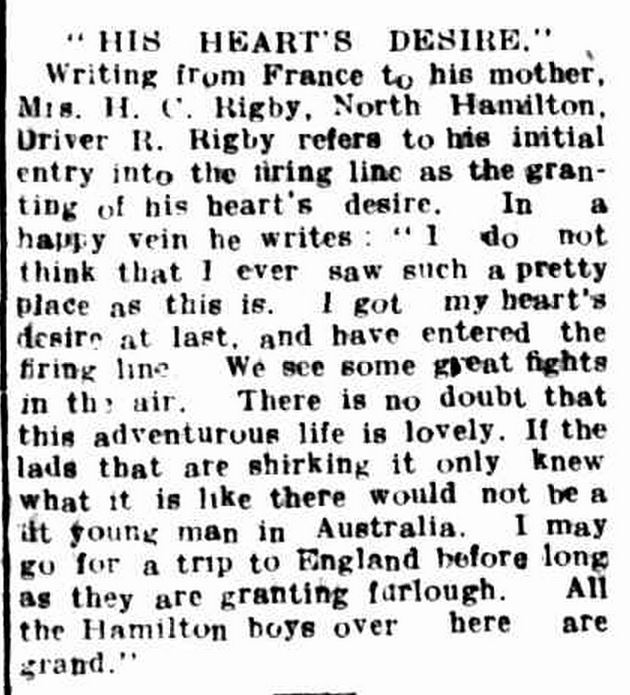 """Hamilton Spectator."" Hamilton Spectator (Vic. : 1870 - 1873; 1914 - 1918) 30 Jun 1916: 4. ."