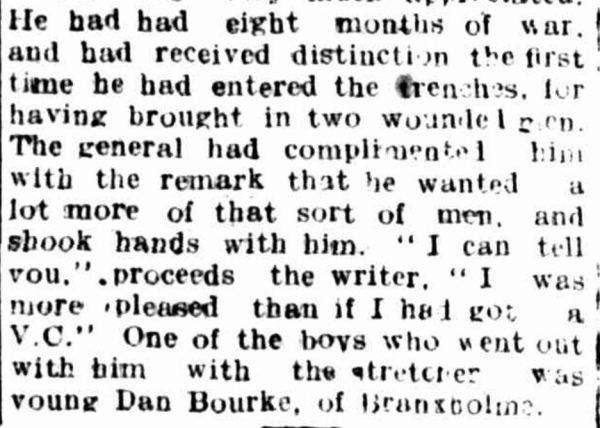 """A GALLANT SOLDIER."" Hamilton Spectator (Vic. : 1870 - 1873; 1914 - 1918) 20 April 1917: 2. ."