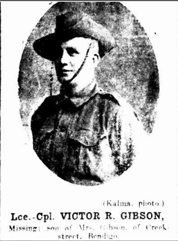 """MISSING SOLDIERS."" Bendigo Advertiser (Vic. : 1855 - 1918) 22 September 1916: http://nla.gov.au/nla.news-article90029589>."