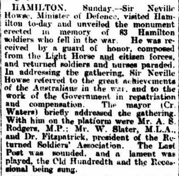"""""""GEELONG."""" The Age (Melbourne, Vic. : 1854 - 1954) 26 Apr 1926: 10. ."""