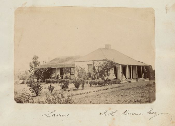 """LARRA"" c1859. Photographer John Lang Currie. Image no. H2013.345/42 http://handle.slv.vic.gov.au/10381/320299"