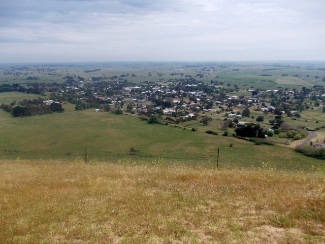 LOOKING OVER PENSHURST FROM MT.ROUSE.