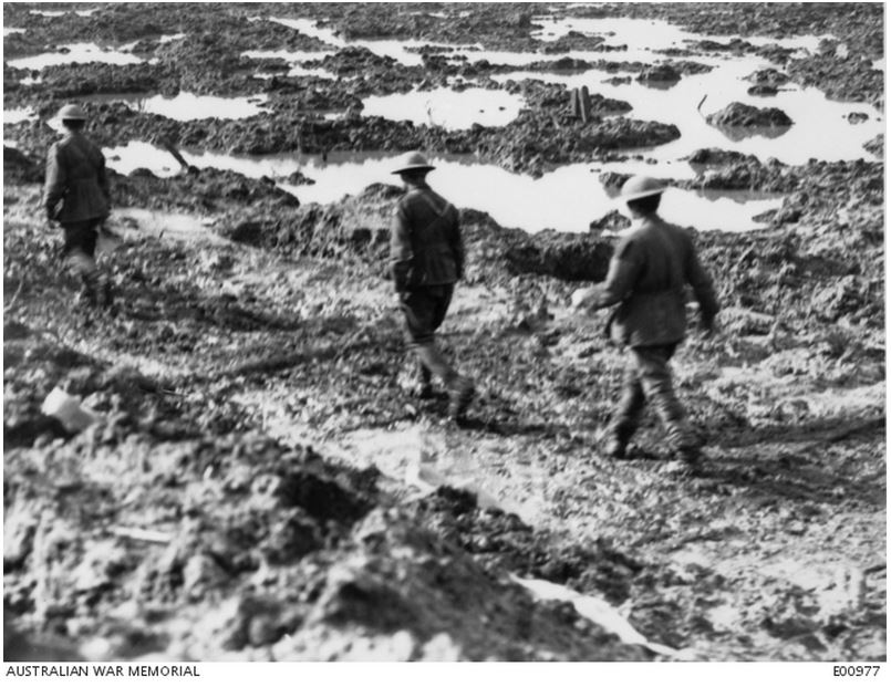 ZONNEBEKE, BELGIUM, 15 OCTOBER 1917. Image courtesy of the Australian War Memorial. Image no. E00977 https://www.awm.gov.au/collection/E00977/