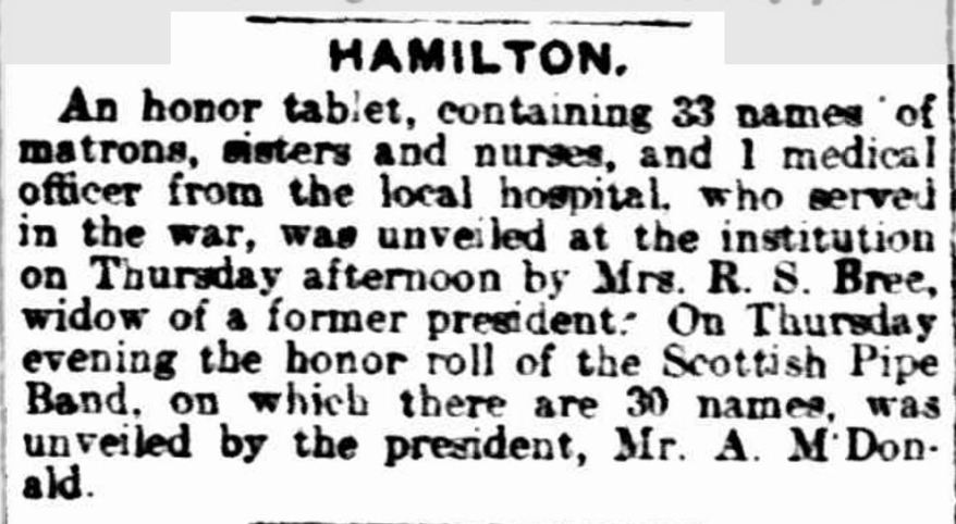 """HAMILTON."" The Age (Melbourne, Vic. : 1854 - 1954) 18 Jan 1919: ."