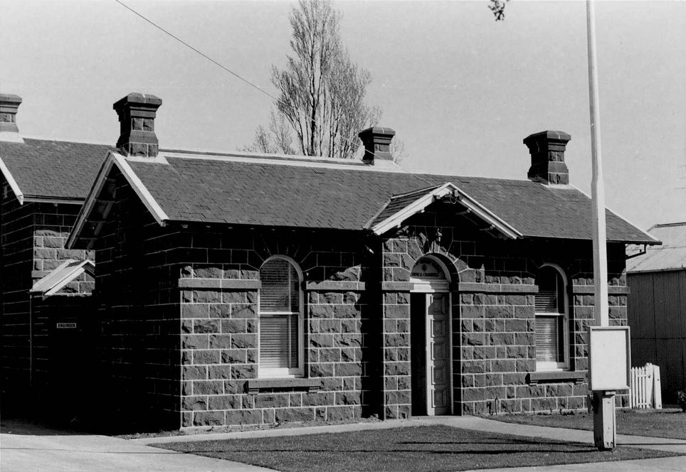 PENSHURST SHIRE HALL. Image courtesy of the J.T. Collins Collection, La Trobe Picture Collection, State Library of Victoria. http://handle.slv.vic.gov.au/10381/233458