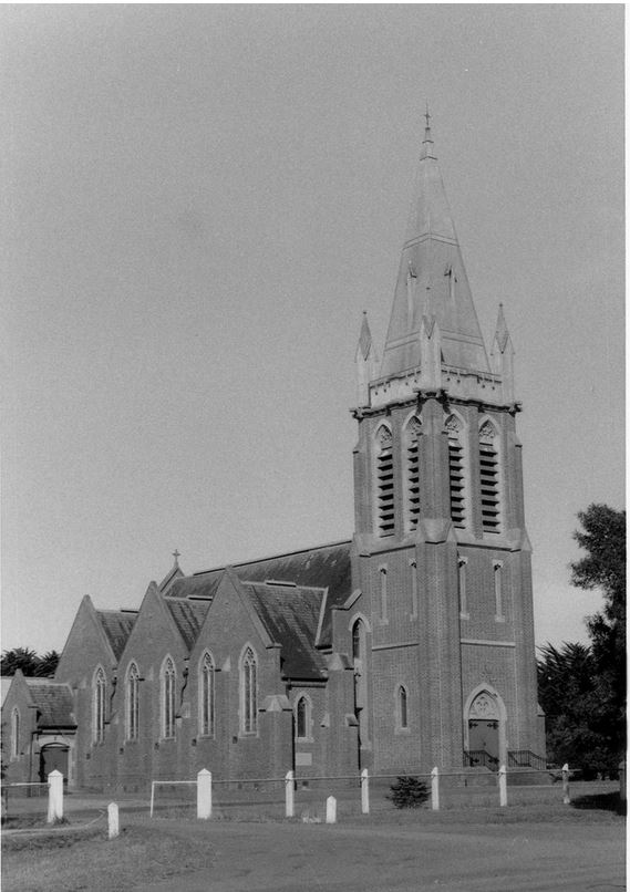 ST. MICHAEL'S LUTHERAN CHURCH, TARRINGTON. Image Courtesy of the J.T. Collins Collection, La Trobe Picture Collection, State Library of Victoria http://handle.slv.vic.gov.au/10381/234372