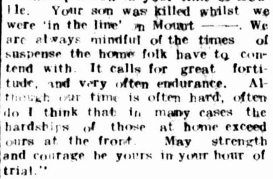 """""""THE LATE PRIVATE F.R. RIGBY."""" Hamilton Spectator (Vic. : 1870 - 1873; 1914 - 1918) 23 Jul 1918: ."""
