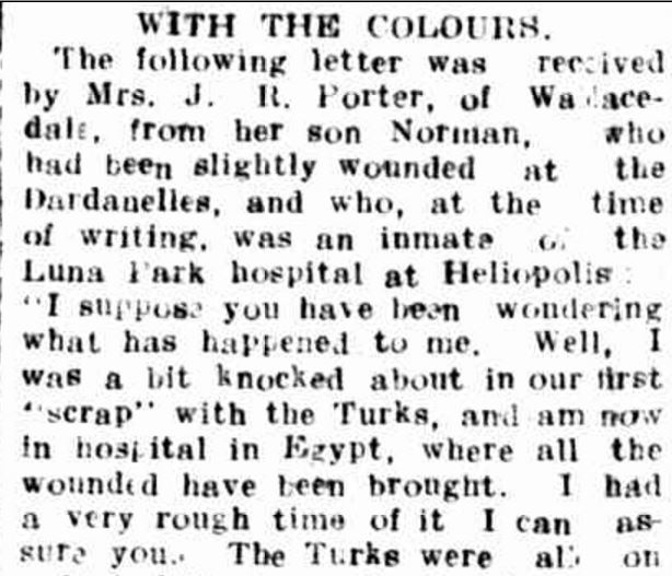 """WITH THE COLOURS."" Hamilton Spectator (Vic. : 1870 - 1873; 1914 - 1918) 19 Jun 1915: 4. Web. 14 Dec 2015 ."