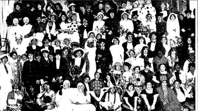"""""""HAMILTON LADIES' FANCY DRESS BALL."""" Punch (Melbourne, Vic. : 1900 - 1918; 1925) 23 Dec 1915: ."""
