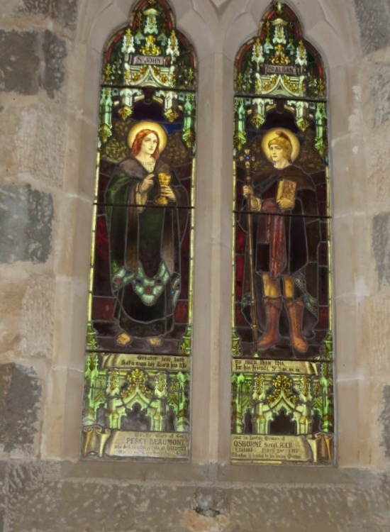 MEMORIAL WINDOW FOR PERCY OSBORNE BEAUMONT, HAMILTON CHRIST CHURCH CATHEDRAL.
