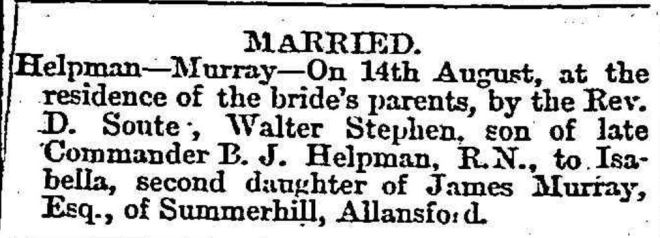 """Family Notices."" Geelong Advertiser (Vic. : 1859 - 1926) 16 Aug 1877: 2. ."