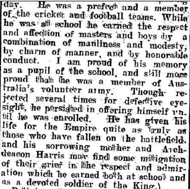 """CHURCH OF ENGLAND GRAMMAR SCHOOL."" The Ballarat Star (Vic. : 1865 - 1924) 16 Feb 1917:."
