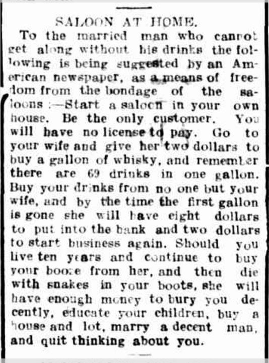 """SALOON AT HOME."" Hamilton Spectator (Vic. : 1870 - 1873; 1914 - 1918) 12 Jan 1916: ."