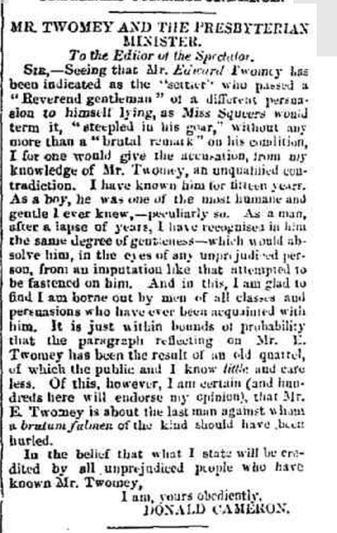 """ORIGINAL CORRESPONDENCE."" Hamilton Spectator and Grange District Advertiser (South Melbourne, Vic. : 1860 - 1870) 17 Dec 1864: 2. Web. 7 Jan 2016 ."