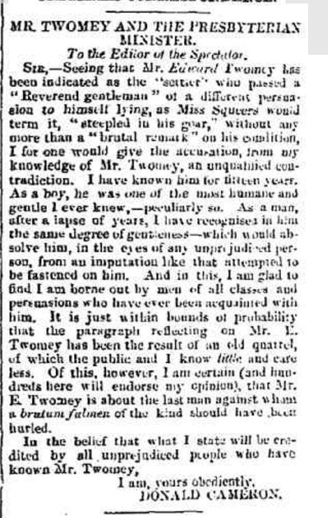 """ORIGINAL CORRESPONDENCE."" Hamilton Spectator and Grange District Advertiser (South Melbourne, Vic. : 1860 - 1870) 17 Dec 1864: 2. Web. 7 Jan 2016 ."