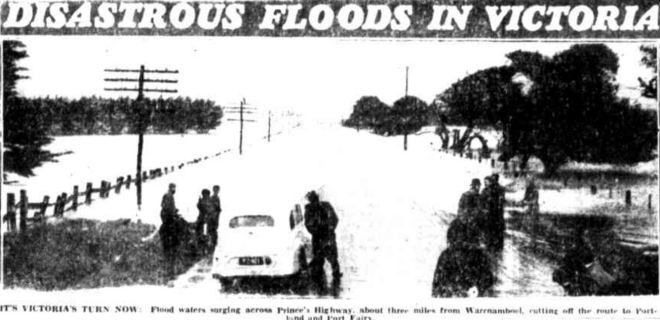 """""""DISASTROUS FLOODS IN VICTORIA."""" Townsville Daily Bulletin (Qld. : 1907 - 1954) 21 March 1946:."""