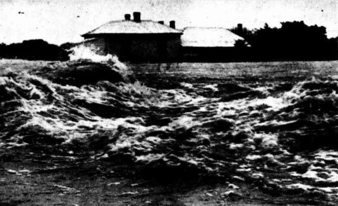 """""""FLOODS IN VICTORIA"""" Newcastle Morning Herald and Miners' Advocate (NSW : 1876 - 1954) 21 March 1946: 3. ."""