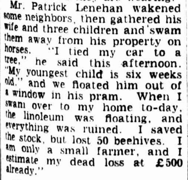 """FLOODS LEAVE TRAIL OF DESTRUCTION"" The Age (Melbourne, Vic. : 1854 - 1954) 19 March 1946:."