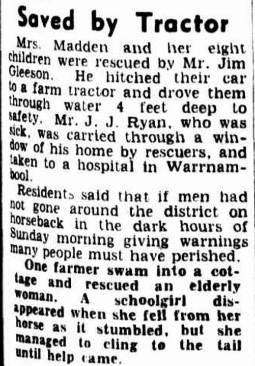 """FLOODS LEAVE TRAIL OF DESTRUCTION"" The Age (Melbourne, Vic. : 1854 - 1954) 19 March 1946: ."