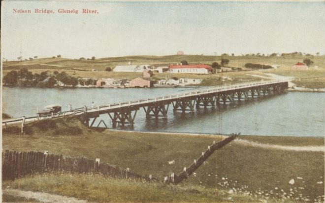 NELSON BRIDGE c1907. Image courtesy of the State Library of Victoria. http://handle.slv.vic.gov.au/10381/211026
