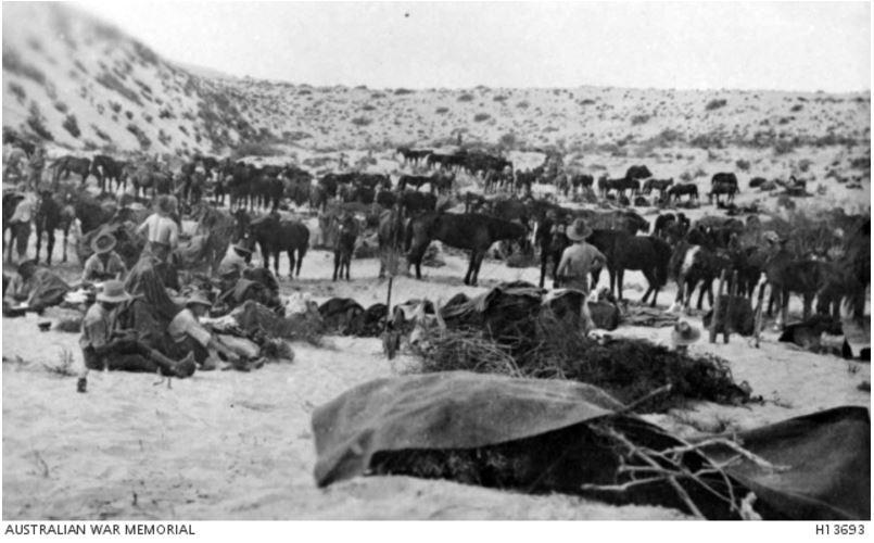 8th LHR, A SQUADRON, SINAI, EGYPT c1916. Image courtesy of the Australian War Memorial https://www.awm.gov.au/collection/H13693/