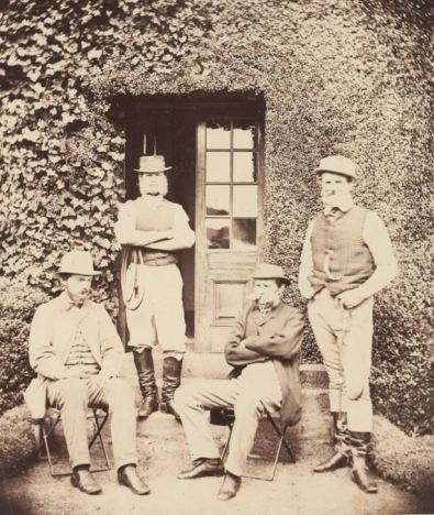CECIL PYBUS COOKE, 2nd from right, OUTSIDE THE CONSERVATORY AT MURNDAL. 1880 Image courtesy of the State Library of Victoria.. http://handle.slv.vic.gov.au/10381/334464