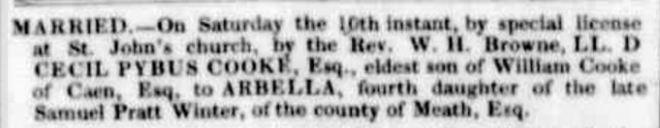 """Family Notices"" Launceston Advertiser (Tas. : 1829 - 1846) 23 May 1839: 2. Web. 13 Sep 2016 ."