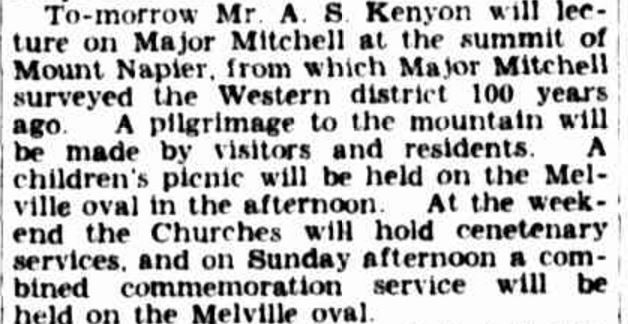 """CENTENARY AT HAMILTON"" The Argus (Melbourne, Vic. : 1848 - 1957) 13 March 1937: 24. ."