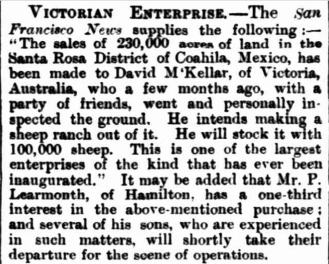 """Items of News."" Hamilton Spectator (Vic. : 1870 - 1918) 6 December 1881: ."