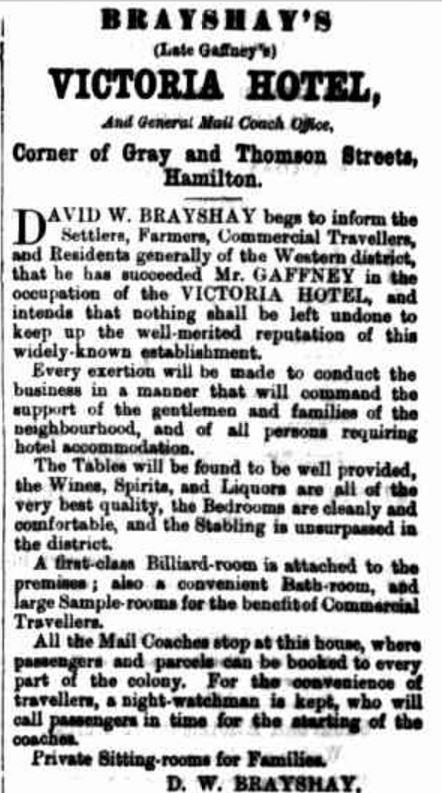 """Advertising"" Hamilton Spectator (Vic. : 1870 - 1918) 9 November 1870: 1. Web. 25 Nov 2016 ."