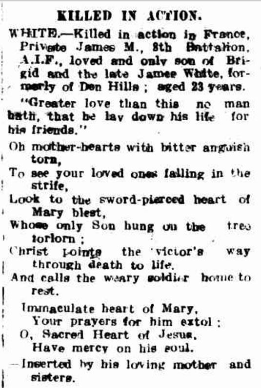 """""""Advertising"""" Hamilton Spectator (Vic. : 1870 - 1918) 9 December 1916: ."""